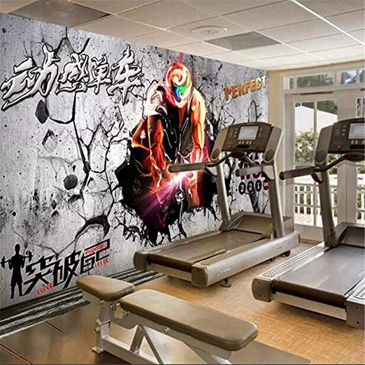 Papel Tapiz Mural Spinning Bike Gym Fitness Club Fitness Center ...
