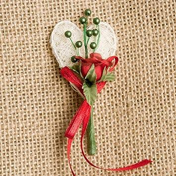 Weddix Hochzeitsanstecker Rose Und Herz Gasteanstecker Hochzeit