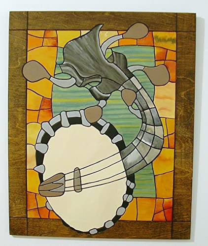 Amazon.com: Banjo Abstract Wood Sculpture Wall Art: Handmade