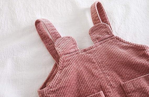 Mornyray Toddler Boy Girl Soft Corduroy Suspender Pants Kids Overalls Retro /…