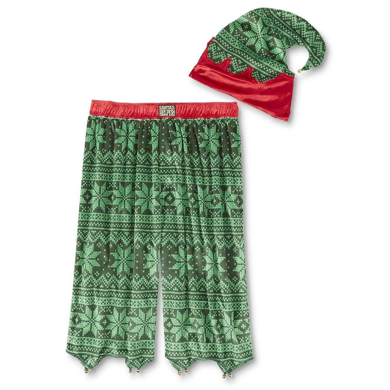 Joe Boxer Men\'s Christmas Pajama Shorts & Hat - Santa\'s Helper Large ...