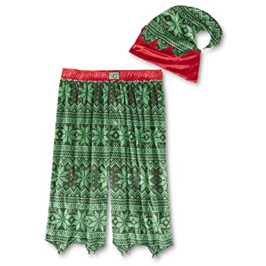 joe boxer mens christmas pajama shorts hat santas