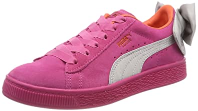 2d096fe940 Puma Suede Bow AC PS, Sneakers Basses Fille, Rose (Fuchsia Purple-Nasturtium
