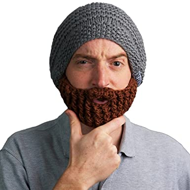 ba122bf50f4 Amazon.com  The Original Beard Hat (Grey)  Clothing