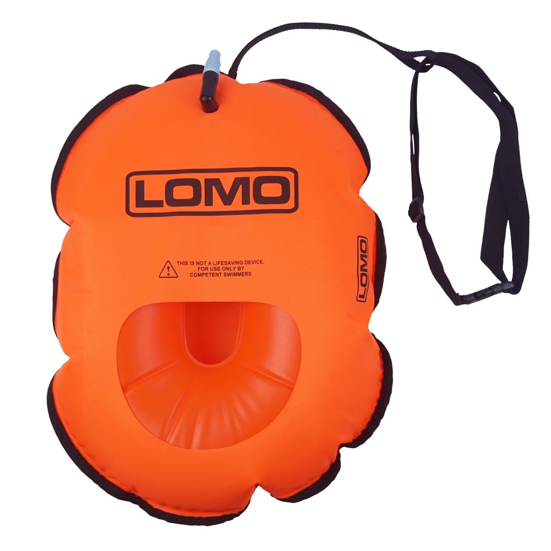 Lomo Hydration Swimming Water Bottle Tow Float Orange