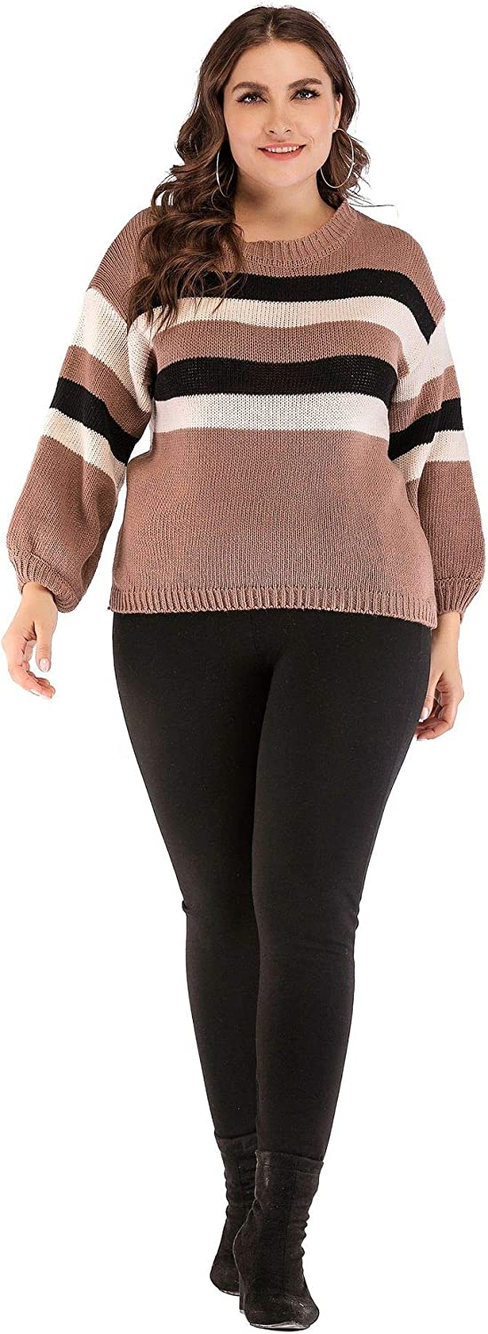 M.Y.X Plus Size Top Knit Sweater Boho Color Oversized Pullover Shirt Big Women