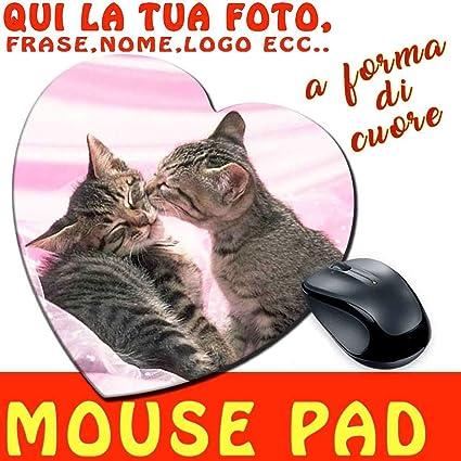 csm Informatica Alfombrilla ratón Pad a Forma de corazón de Tela con impresión Personalizada – Idea