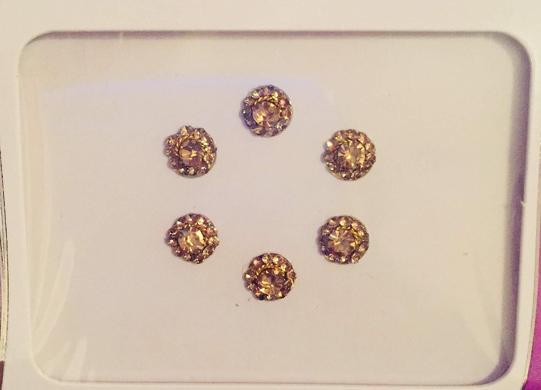 B2820 Antique Gold Stone Diamante Bindi Tattoo Forehead Sticker Wedding Tikka
