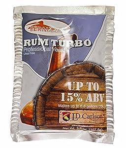 Home Brew Ohio-HOZQ8-390 Fermfast Rum Turbo Yeast 107.5 G Packet - White