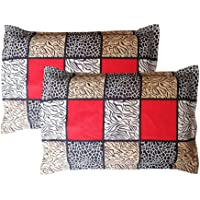 Amrange Cotton 2 Piece Set Designer Pillow Covers,Size-17'' x 27''