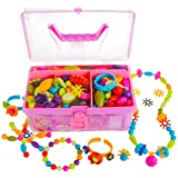 Gili Pop Beads, Jewelry Making Kit for 4, 5, 6, 7 Year Old Little Girls, Arts and Crafts Toys for Kids Age 4yr-8yr…