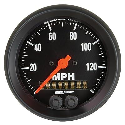 "AUTO METER 3-3/8"" AutoMeter 2680 Gauge, Speedometer, 3 3/8"", 140Mph, GPS, Z-Series: Automotive"