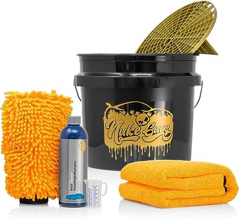 Detailmate Set Handwäsche Gritguard Wascheimer 3 5 Gal Grit Guard Einsatz Liquid Elements Orange Baby Xl Trockentuch Koch Chemie Nanomagic Autoshampoo 750ml Waschhandschuh Messbecher Auto