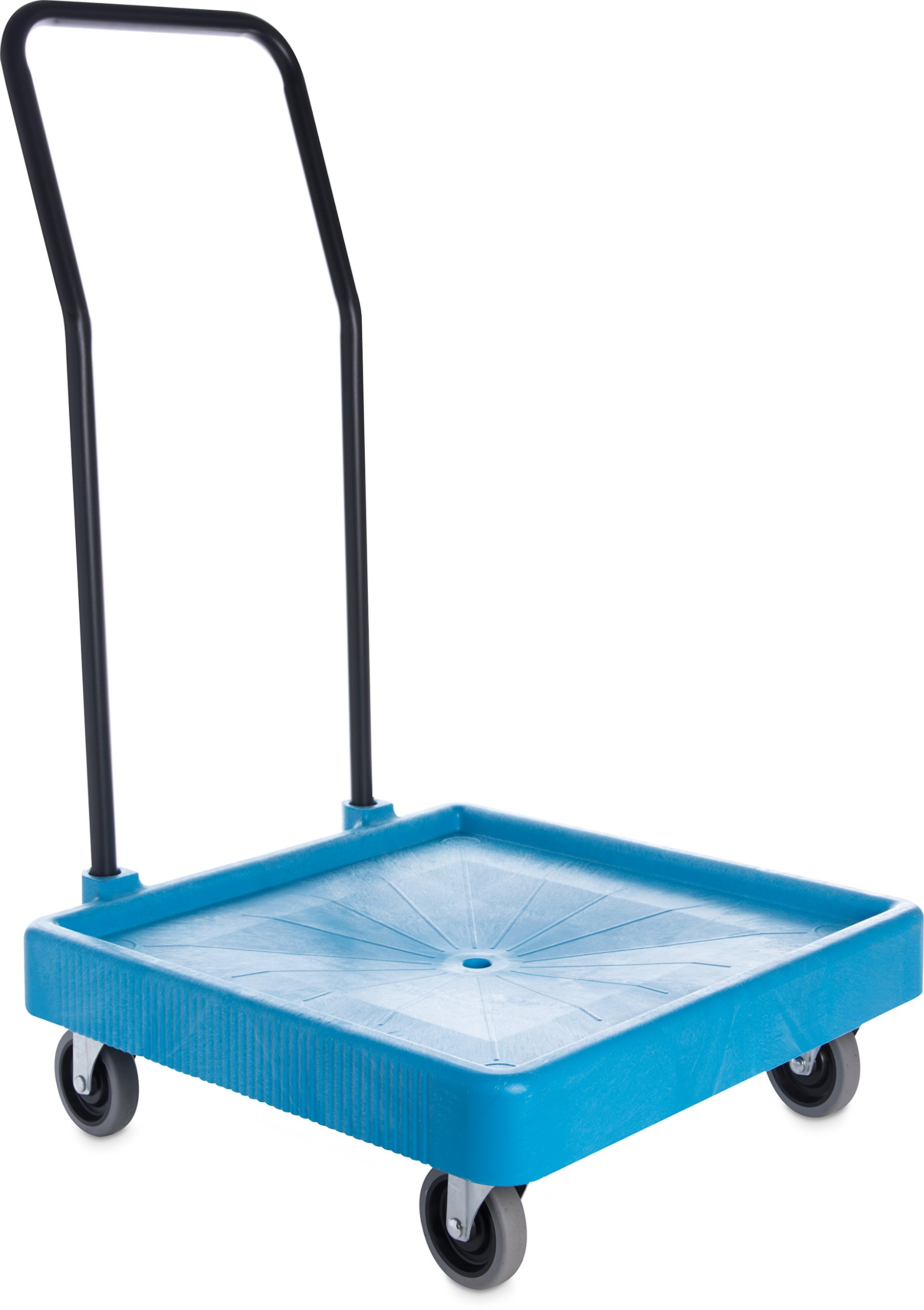 Carlisle C2236H14 Universal Warewashing Rack Dolly with Handle, 350 lb Capacity, Blue