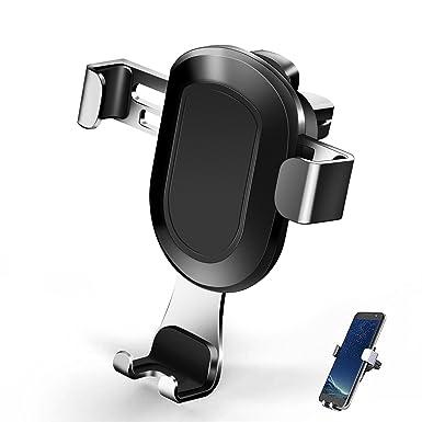 Soporte para teléfono de coche, con clip de gravedad, soporte de ventilación de coche