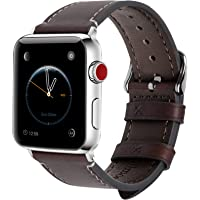Apple Watch Band 44mm 42mm 40mm 38mm, 8 Colors Fullmosa Wax Leather iWatch Band/Strap for Apple Watch Series 6 5 4 3 2 1…