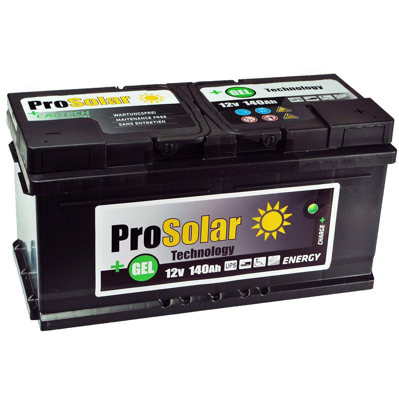 Amarillo atterie Gel 140 Ah Solar Batería 12 V prosolar Gel portero ungsfre Armario 150 Ah 120 Ah 110 Ah