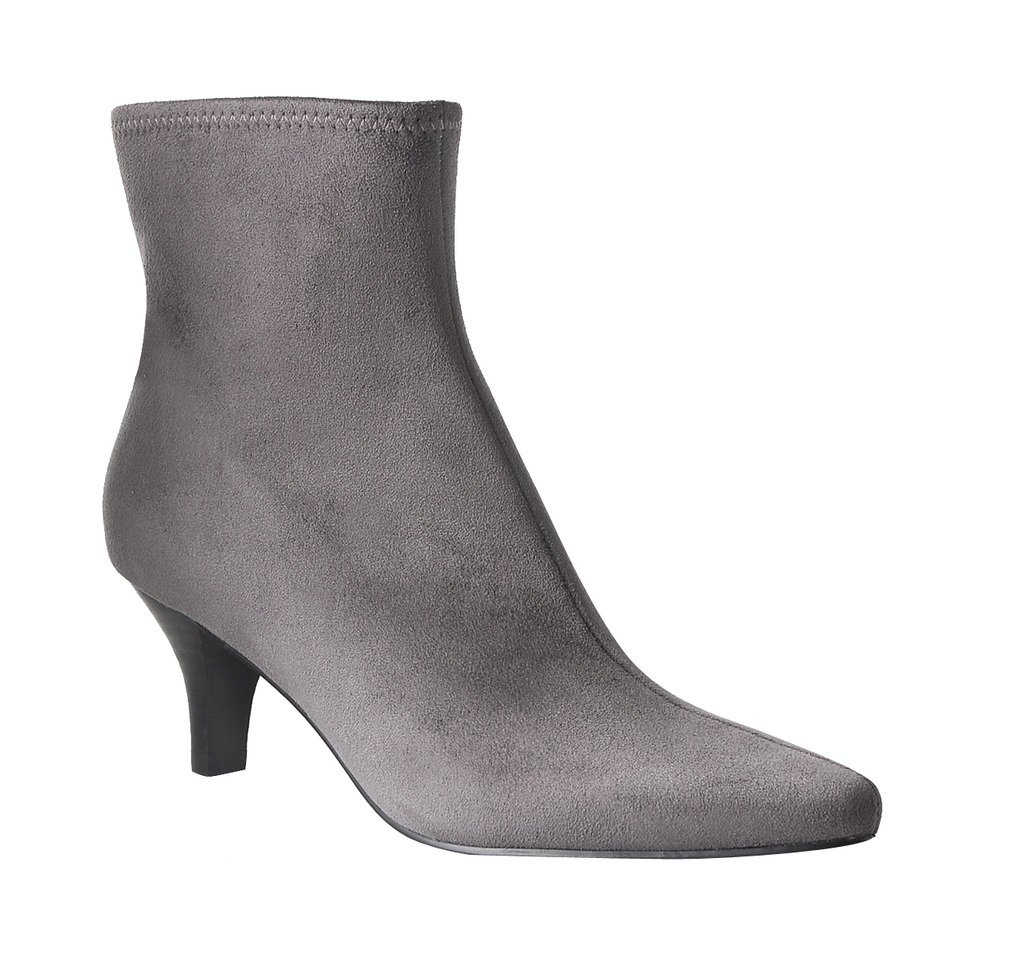 Impo Neil Dress Stretch Bootie B074XFD2Z1 8.5 B(M) US|Steel Grey Faux Suedy Stretch