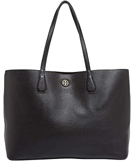 92bd166707e1 Amazon.com  Tory Burch Perry Ladies Large Black   Gold Leather ...