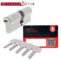 ABUS ProfilZylinder Zylinder TürZylinder EC550 EC 550 VS verschiedenschließend inkl. 5 Schlüssel inkl. ToniTec CodeCard Größe 35/40mm
