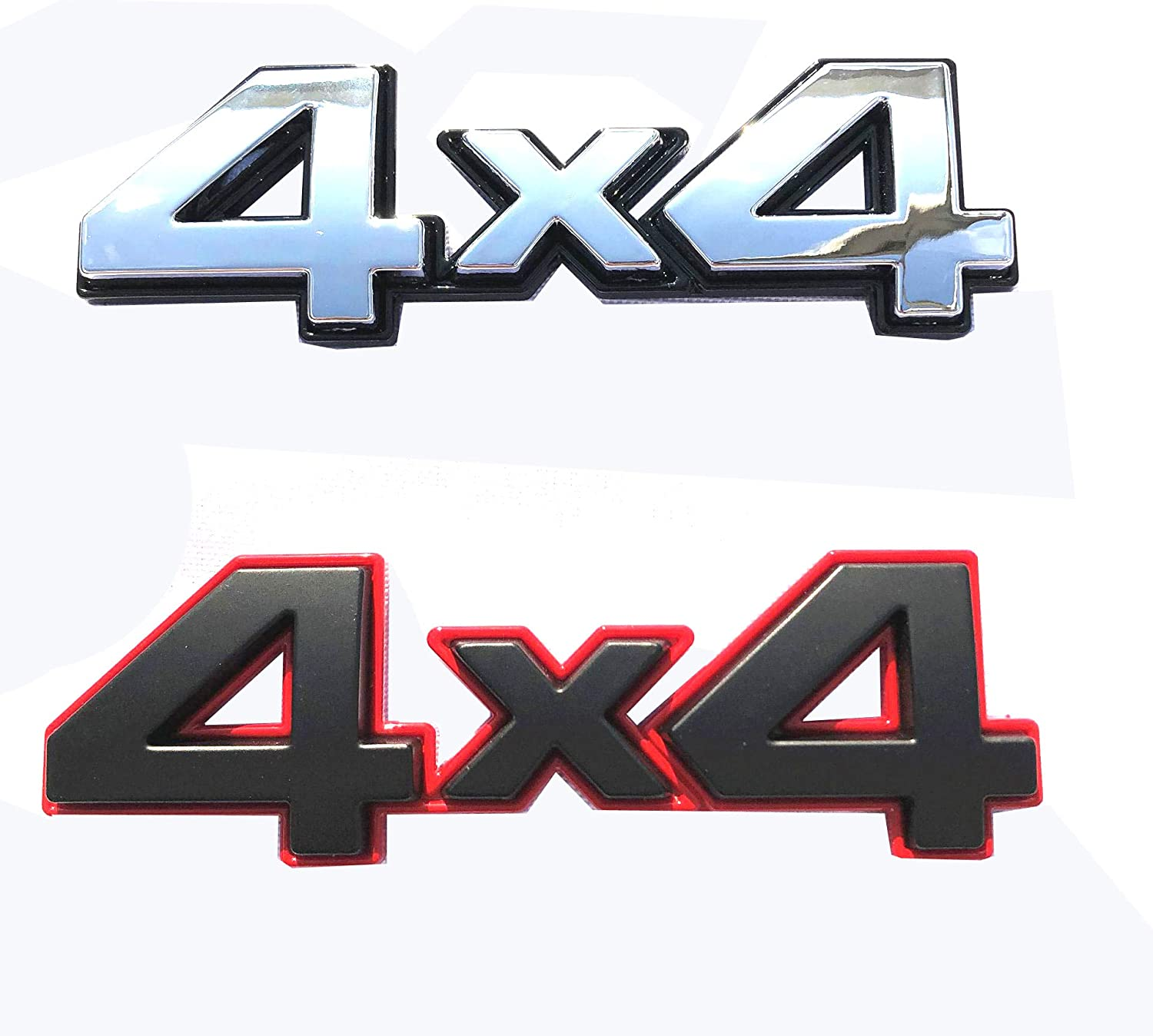 Black Red 4x4 Emblem Badge Nameplate 3D Car Sticker Decal Replacement for Universal car Rear Tailgate 4 X 4