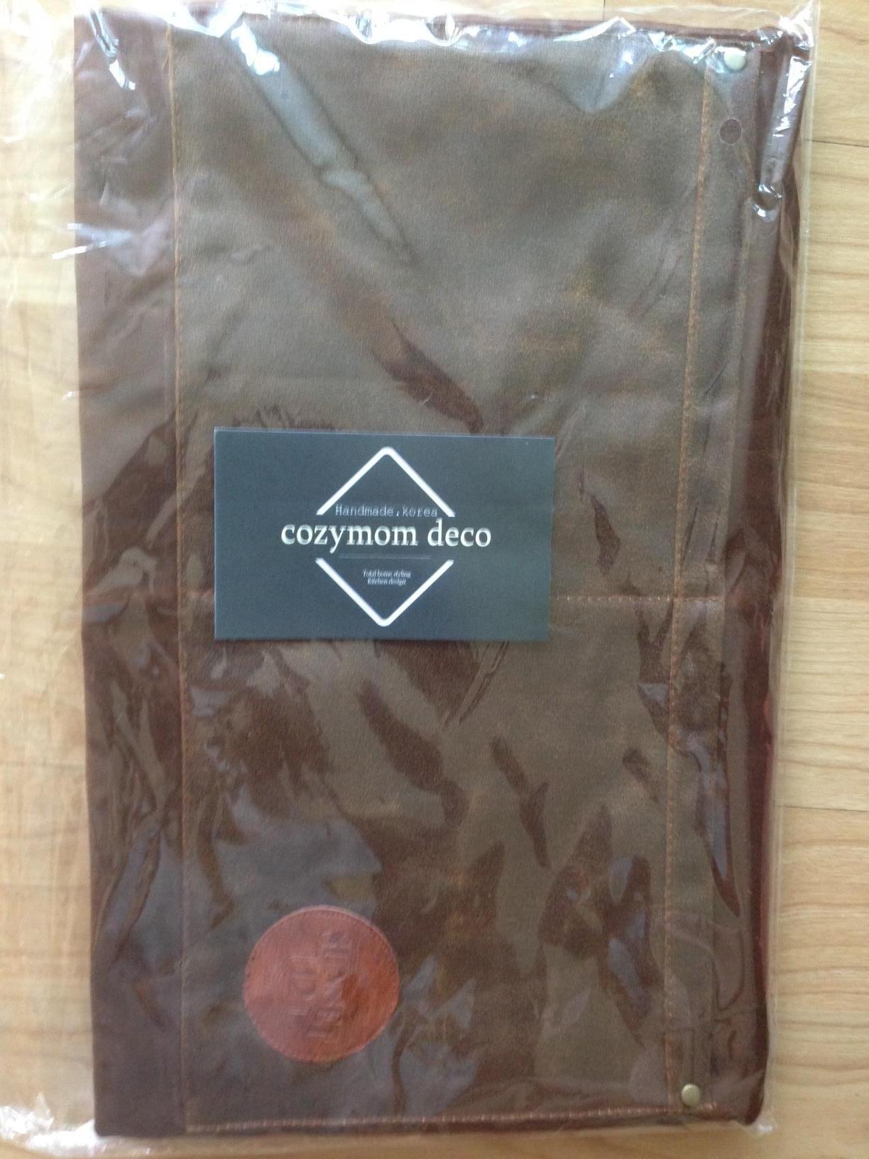 Cozymom Handmade Cross back Fake leather Utility Apron - Brown color