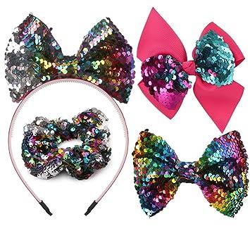 12 PCS//Lot Sequin Glitter Bow Hair Accessories Alligator Clips Barrettes DIY Pin