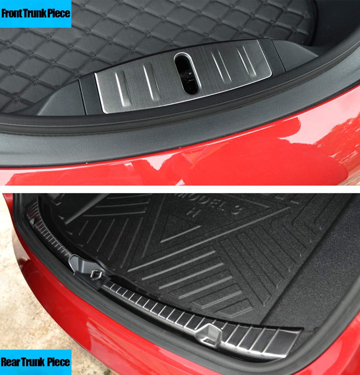 Topfit Protection de seuil de chargement en acier inoxydable chrom/é pour Mod/èle 3