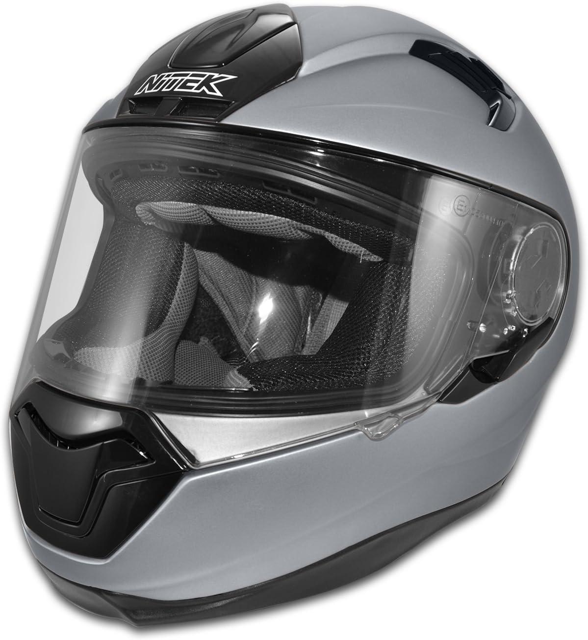 Nitek N125 Interceptor Full Face Motorcycle Street Helmet Matte Flat Black DOT