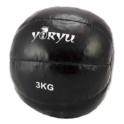 Balón medicinal Yoryu Crossfit Ball 3 kg. Negro: Amazon.es ...