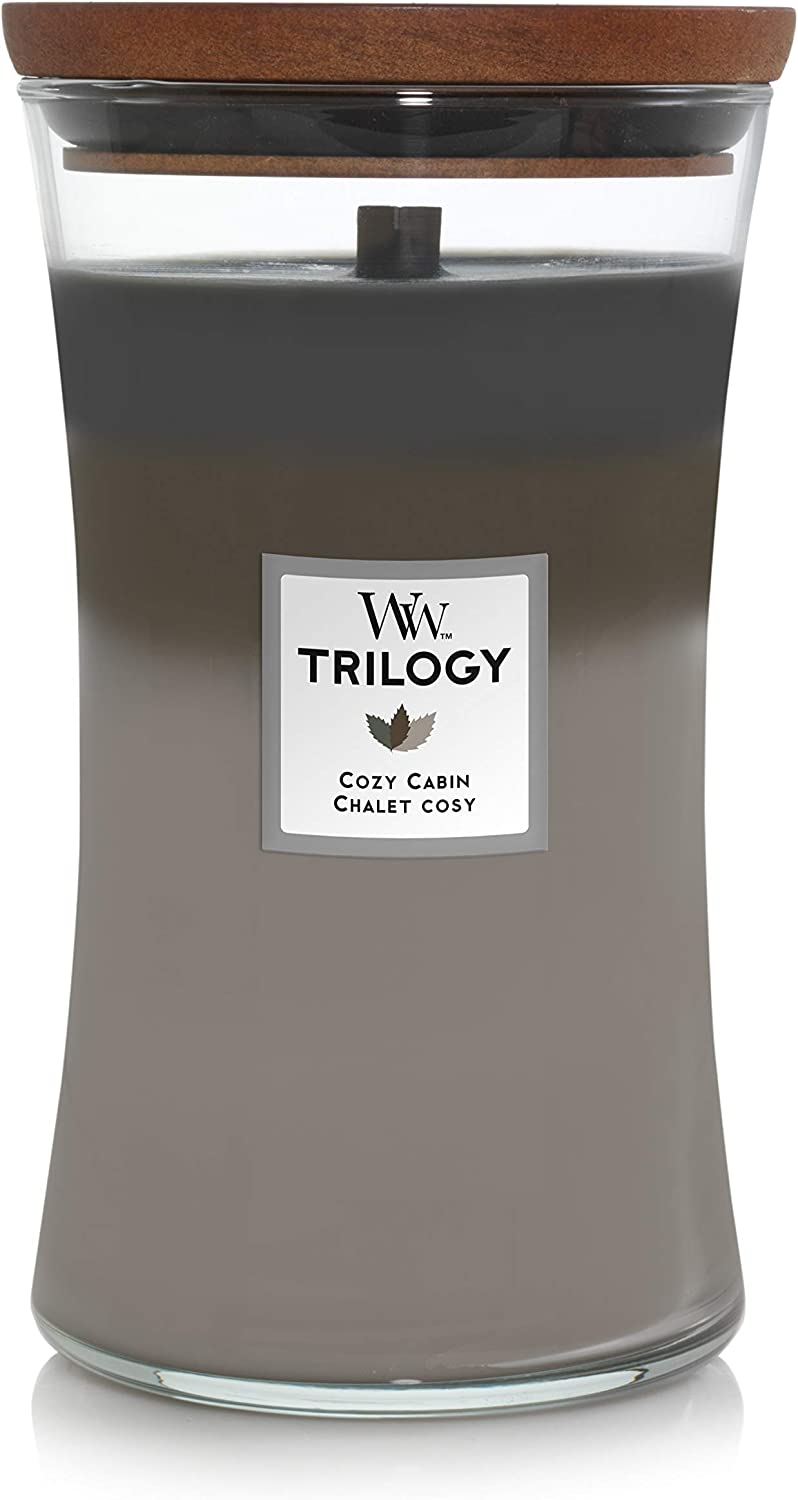 WoodWick 5038581054407 Trilogy Candle Large Cozy Cabin 93968E, one Size.