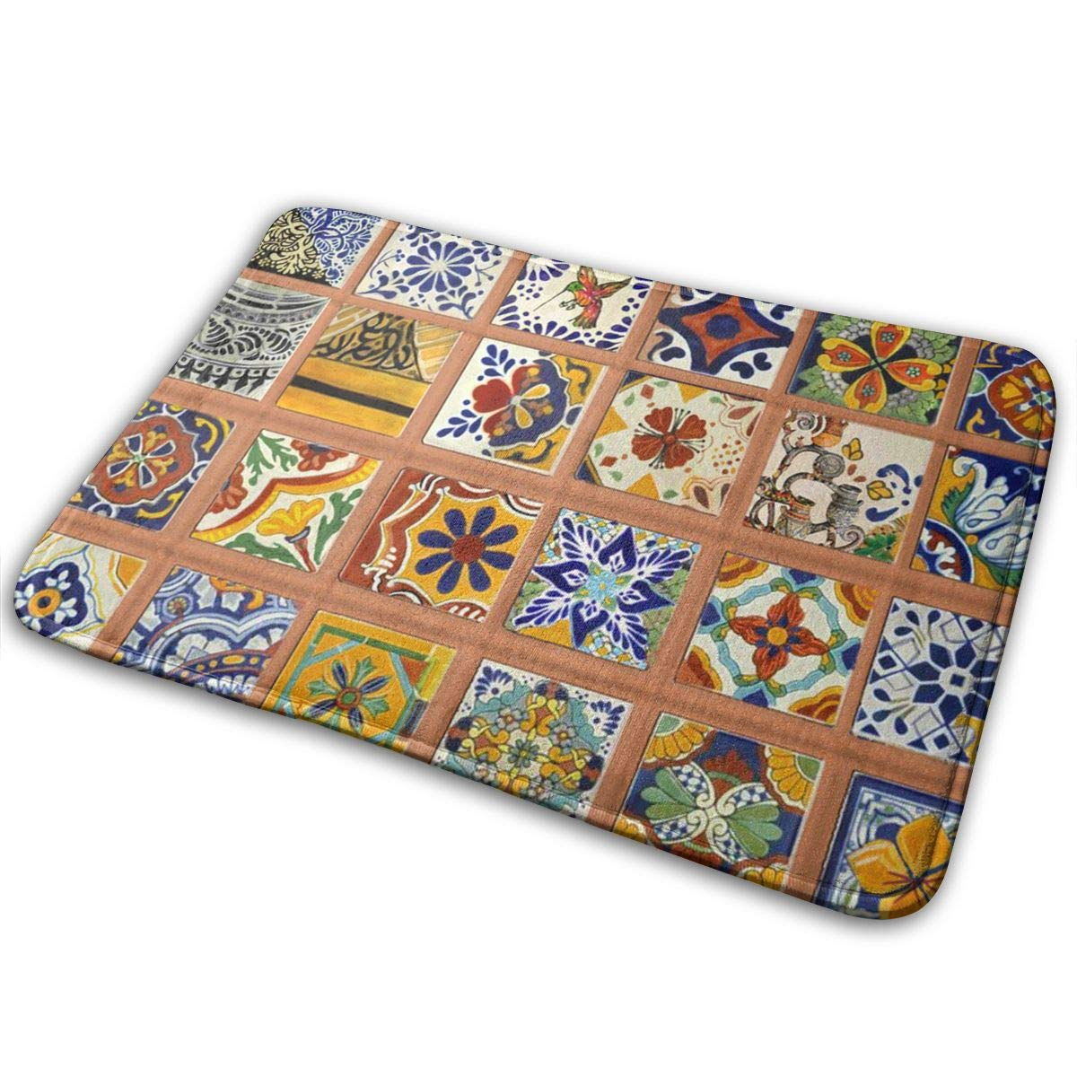 0fe2963b6619 Amazon.com: OLZI Talavera Mexican Tiles Doormat Indoor Home Kitchen ...