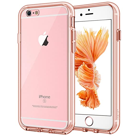 separation shoes 2ed12 a77df JETech Case for Apple iPhone 6 and iPhone 6s, Shock-Absorption Bumper  Cover, Anti-Scratch Clear Back (Rose Gold)