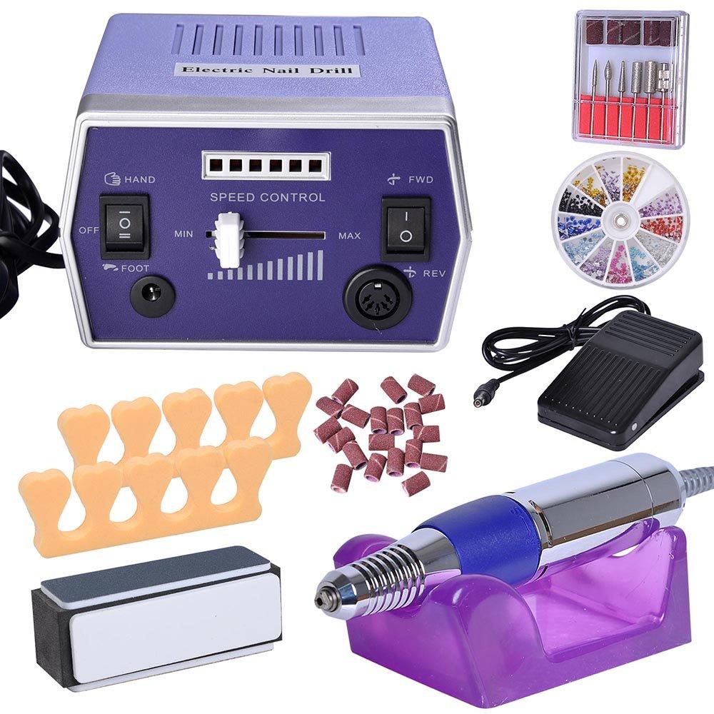 Amazon.com: Pro Electric Nail File Drill Adjustable Manicure Tool ...