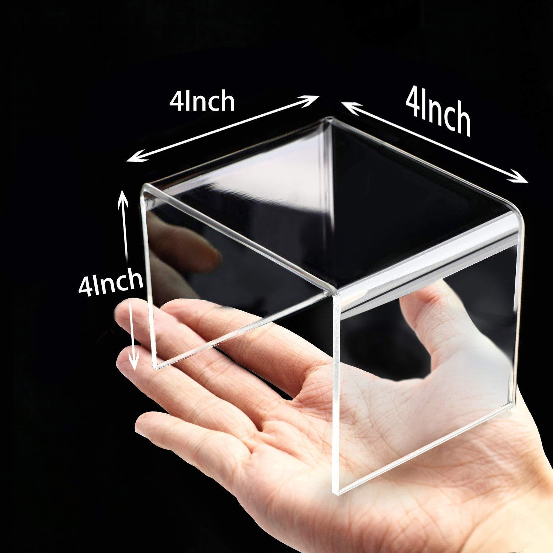 mensola per vetrina in 3 Pezzi per Figure Buffet AUFIKR Riser per Display in Acrilico Trasparente con Pellicola Protettiva Adesiva Cupcake e banchi di Esposizione per Gioielli