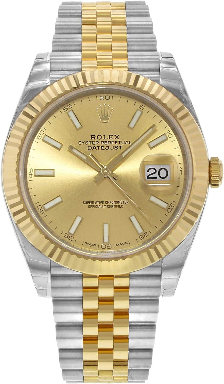 Rolex Oyster Perpetual Datejust Jubilee champán índice
