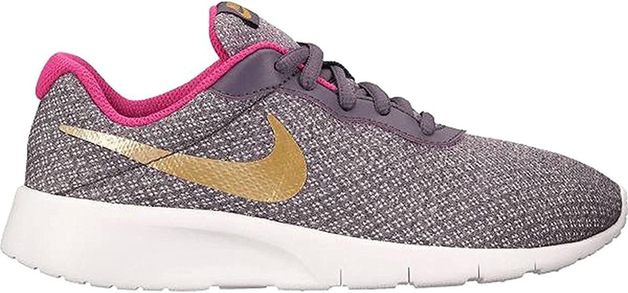 3e71c7d7837 Nike Kids Tanjun (GS) Dark Raisin Metallic Gold Pink Size 7  Amazon ...