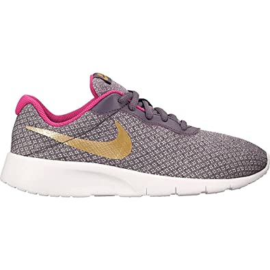8475ba7e1e0 Nike Kids Tanjun (GS) Dark Raisin Metallic Gold Pink Size 5.5