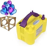 Inflador Balão Compressor 2 Bicos com Medidor De Bexiga (Amarelo, 110v)