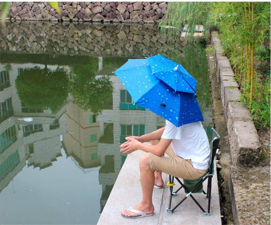 YZFGY Head-Mounted Umbrella Cap Outdoor Double Sun Protection Umbrella Cap Windproof UV Folding Umbrella Fishing Sun Hat//Diameter 80cm Umbrella