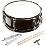 "Snare Drum Set Student Steel Shell 14"" X 5.5"", Includes Drum Key, Drumsticks and Strap"