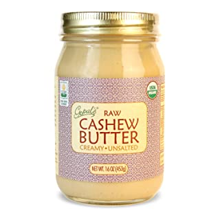 Gopal's Organic Raw Cashew Butter | USDA Organic and Gluten-Free, Creamy and Unsalted, 16 Ounce (456 Grams) Glass Jar
