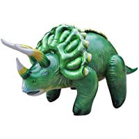 Jet Creations 43 inch Triceratops Inflatable Air Stuffed Plush Dinosaur, Durable Self Standing, one of the best toys…