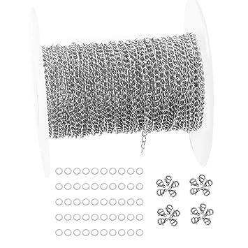 Amazon.com: Tiparts - Cadena de acero inoxidable chapada en ...