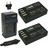 Wasabi Power Battery (2-Pack) and Charger for Pentax D-LI109 and Pentax K-r K-30 K-50 K-500