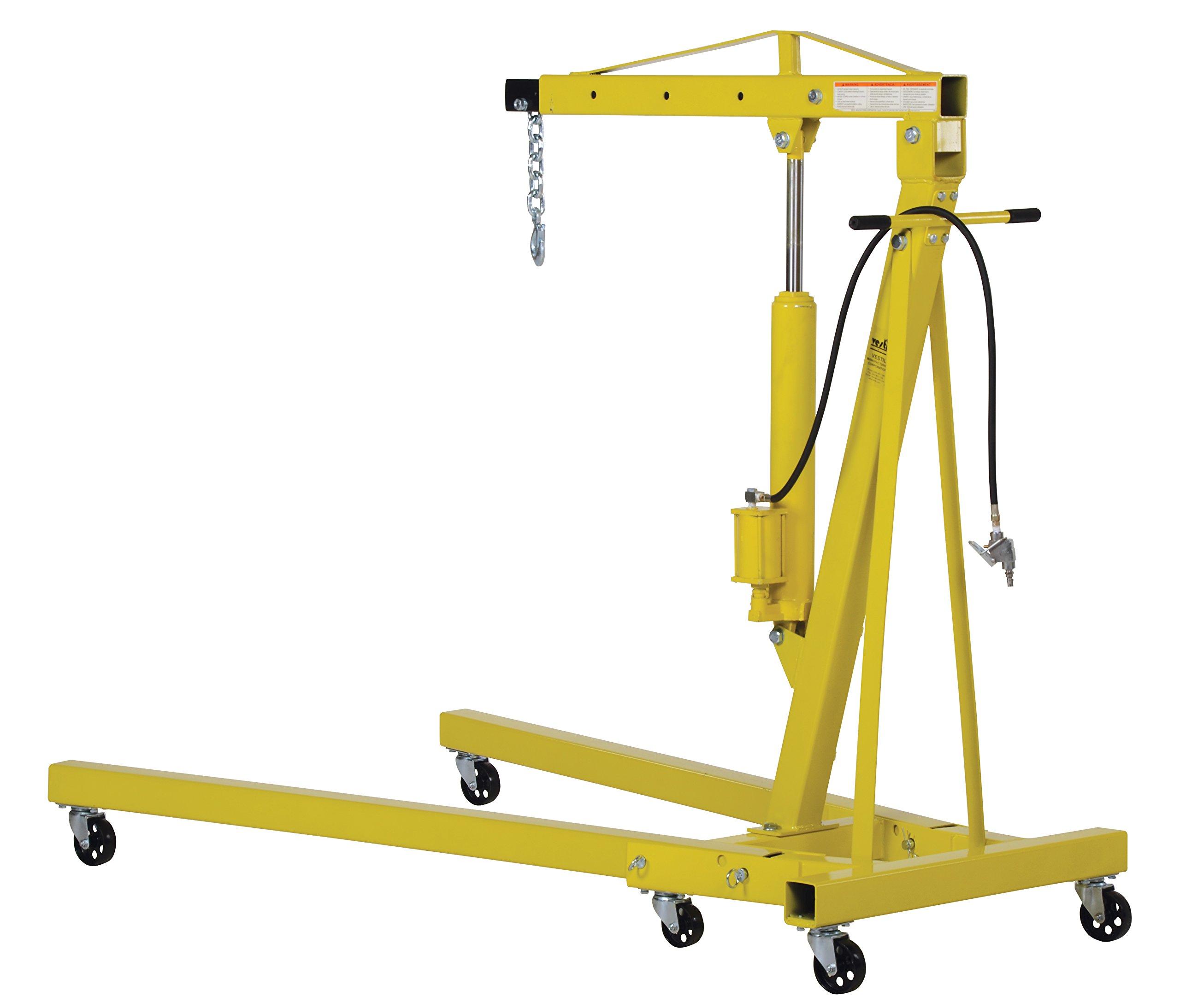 Vestil EHN-40-C-AH Steel Air/Hand Pump Hydraulic Shop Crane Engine Hoist with Folding Legs 4000 lbs Capacity by Vestil (Image #5)