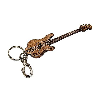 Llavero guitarra de cuero genuina curtida vegetal ...