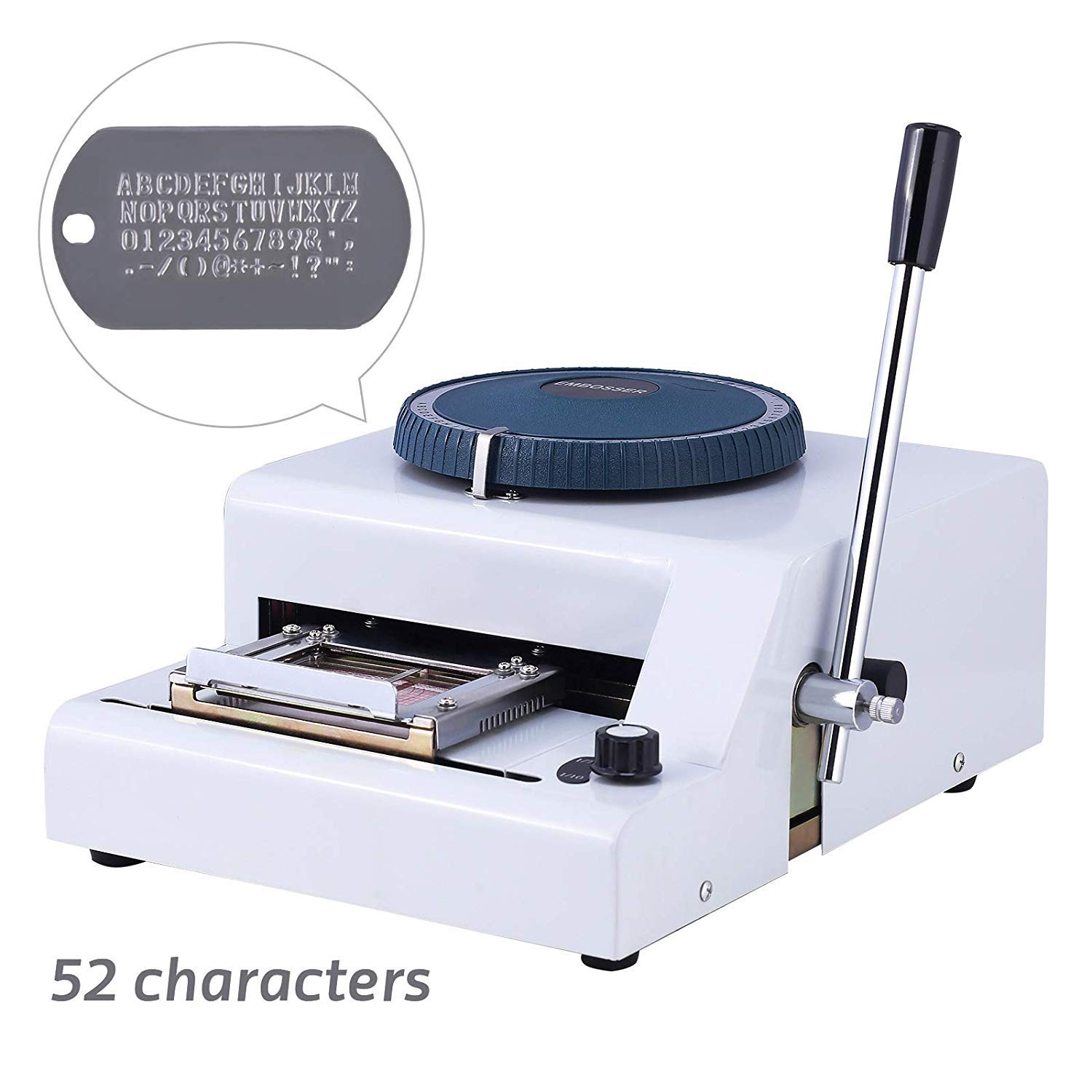 SUNCOO Embossing Machine Letter Manual Metal Dog ID Tag Embosser 52 Characters