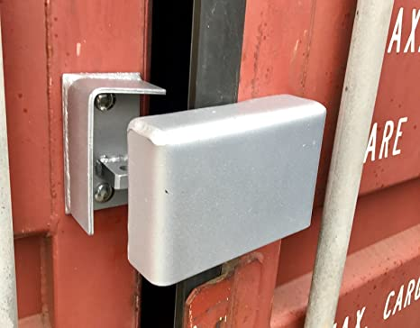 New Bolt On Cargo Container Security -Lock Box W/ Free Padlock,Bolts -Heavy  Duty, US