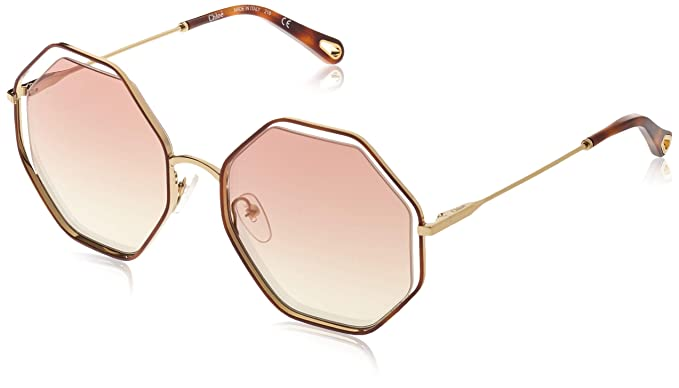 Chloè Ce132s Gafas de sol, Havana/Bronze, 58 para Mujer ...
